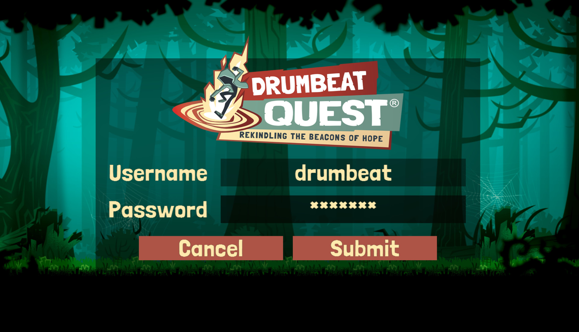 Drumbeat login screen software development