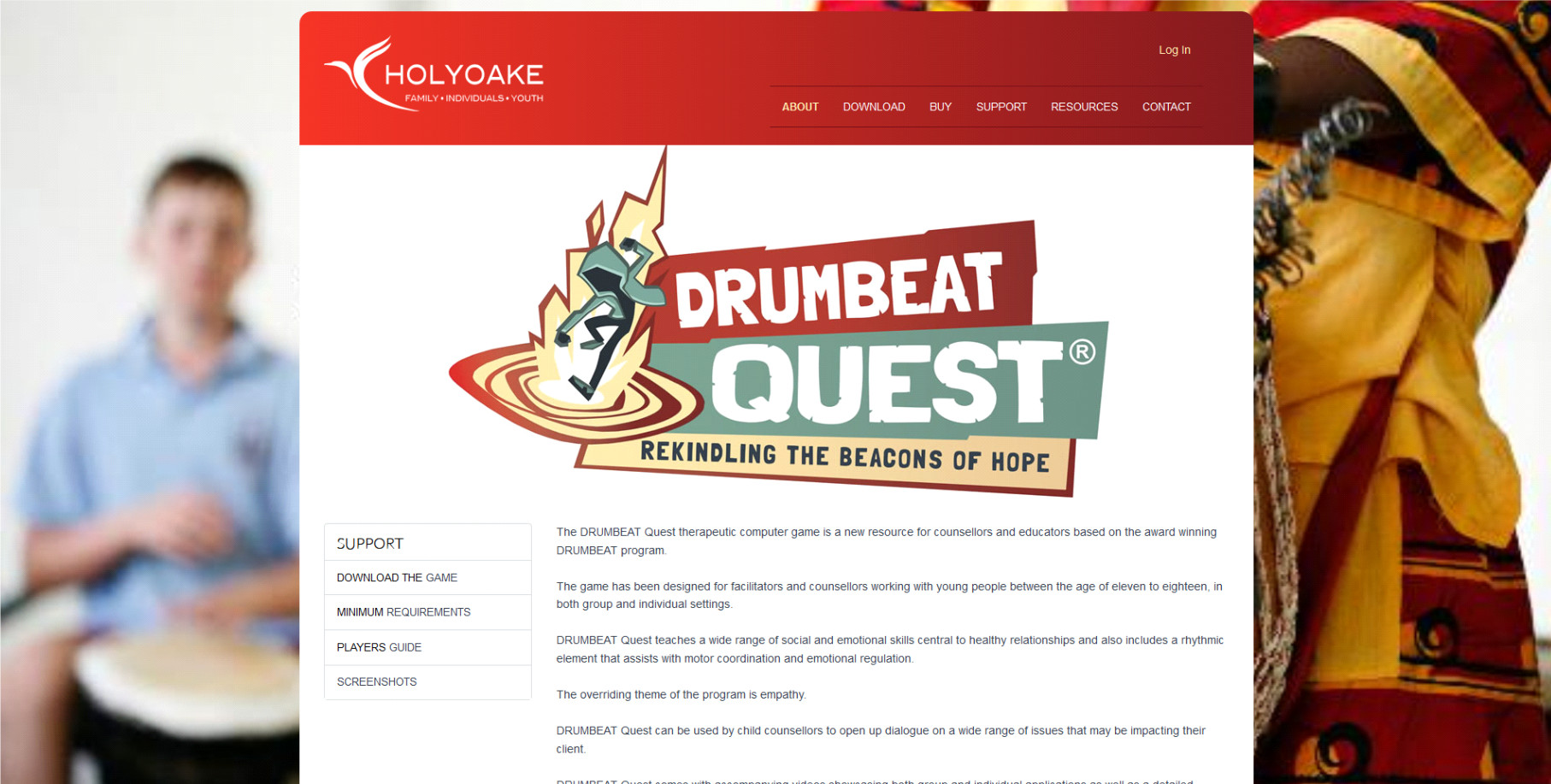 Drumbeat website development for Holyoake in Perth
