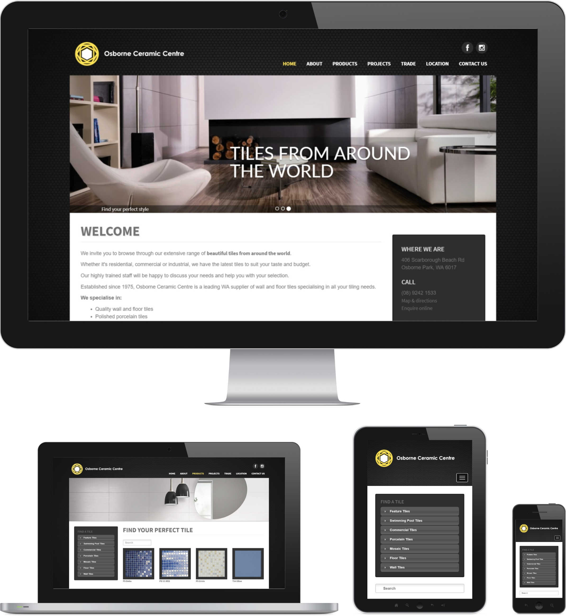 Web Design for Perth Tile Store